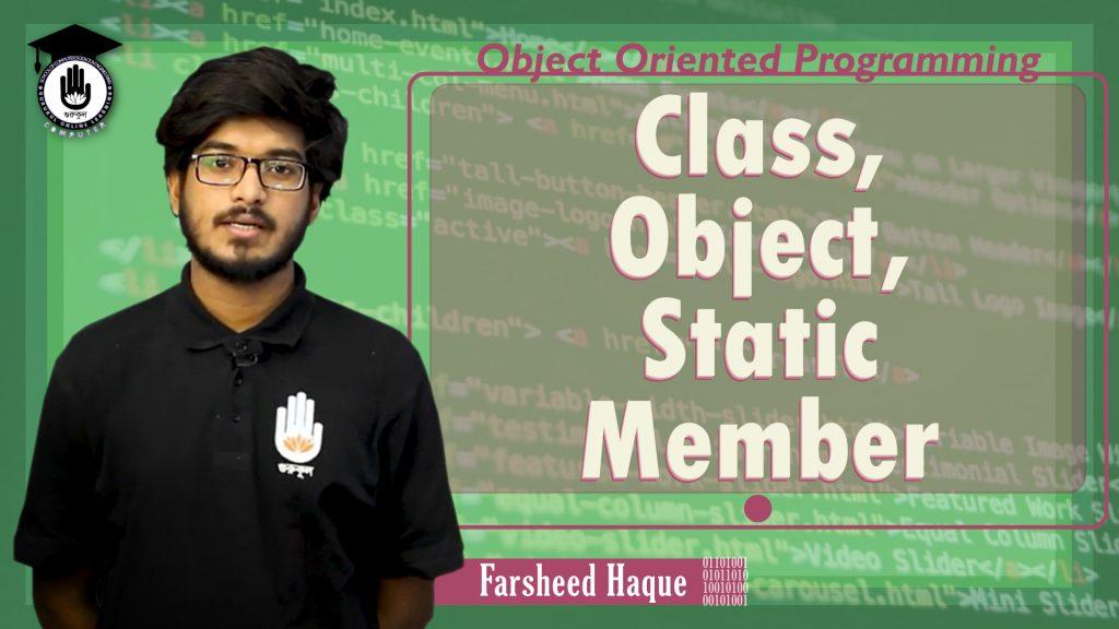 Class, Object, Static Member | Object Oriented Programming | Gurukul Online Learning Network (GOLN)