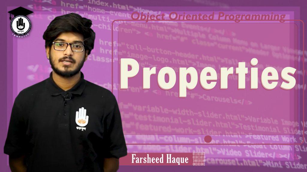 Properties | Object Oriented Programming | Gurukul Online Learning Network (GOLN)